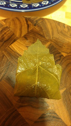 Rolling Stuffed Grape Leaves