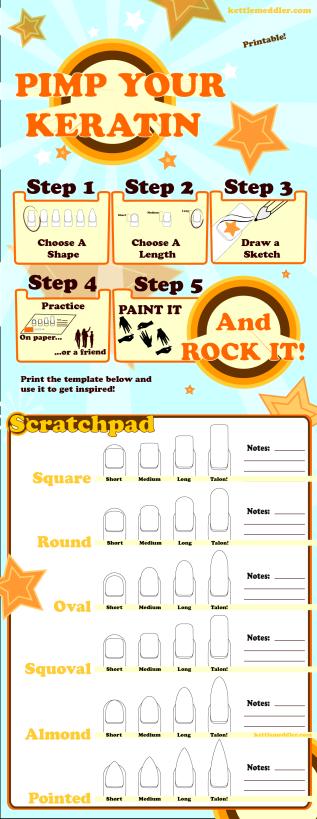 Nail Art Template Sketch Pad